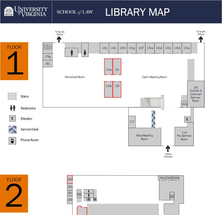 Law Library Study Rooms Map-thumb
